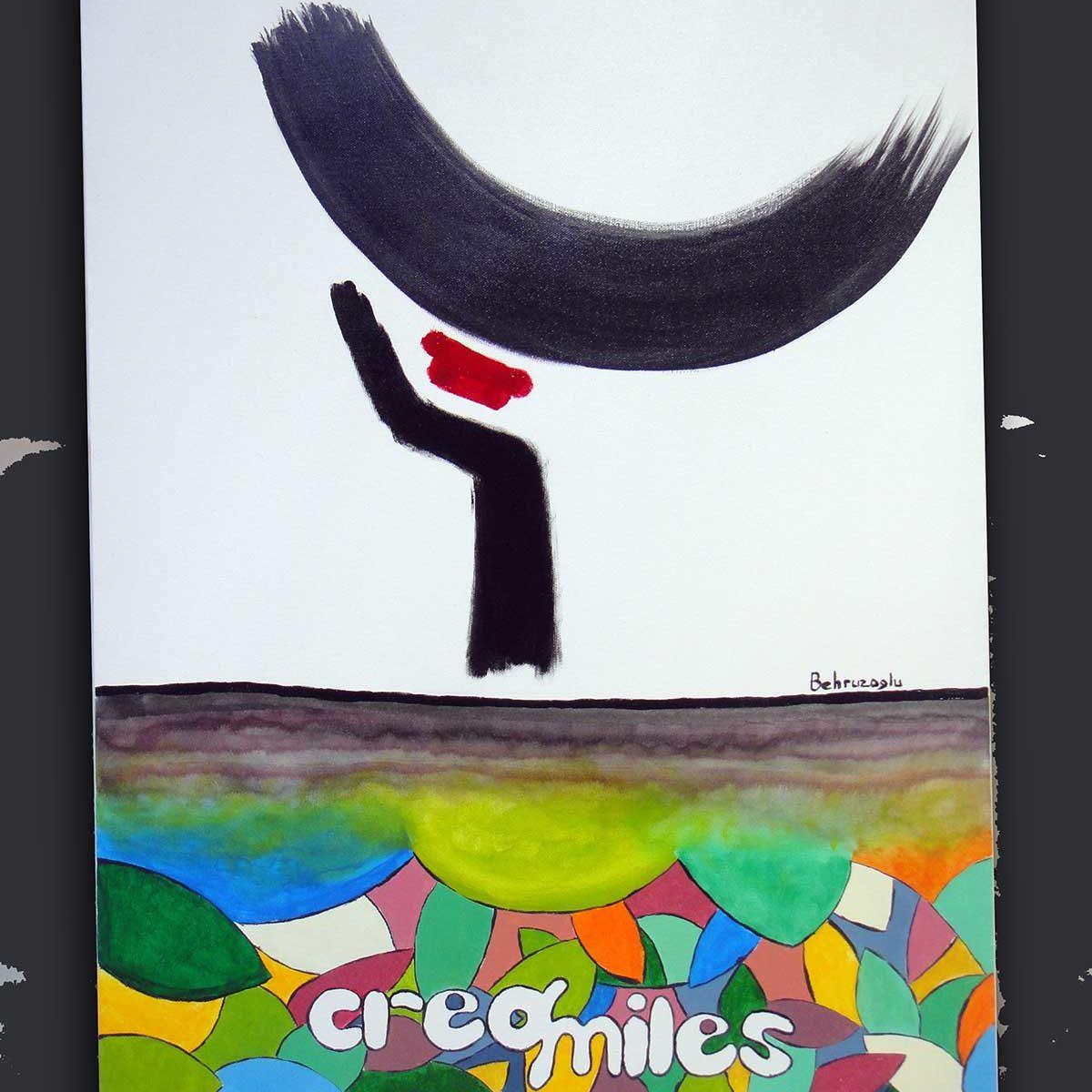 Creasmiles-50x70cm-canvas-acrylic-paint