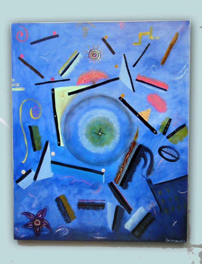 Gravity-80x120-canvas-acrylic-paint